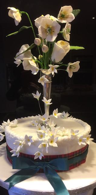 Spiced Apple Flower Cake