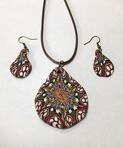 burgundy pendant and earrings.jpg