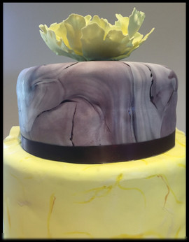 Marbled Peony Cake