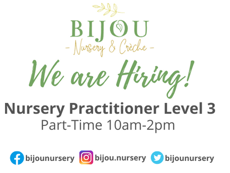 Part-Time 10am-2pm Nursery Practitioner Level 3