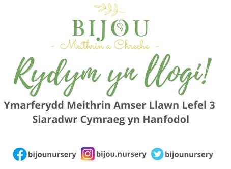 We Are Hiring! Welsh Speaking Nursery Practitioner Level 3
