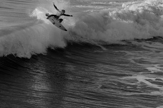 FLEW OUT OF THE TOP OF THE WAVE