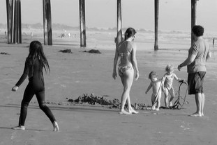 BEACH FAMILY & SEAWEED