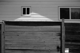 FENCE WITH LIGHT GABLE