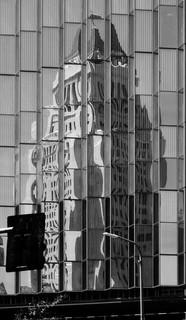 LA CITY HALL REFLECTED