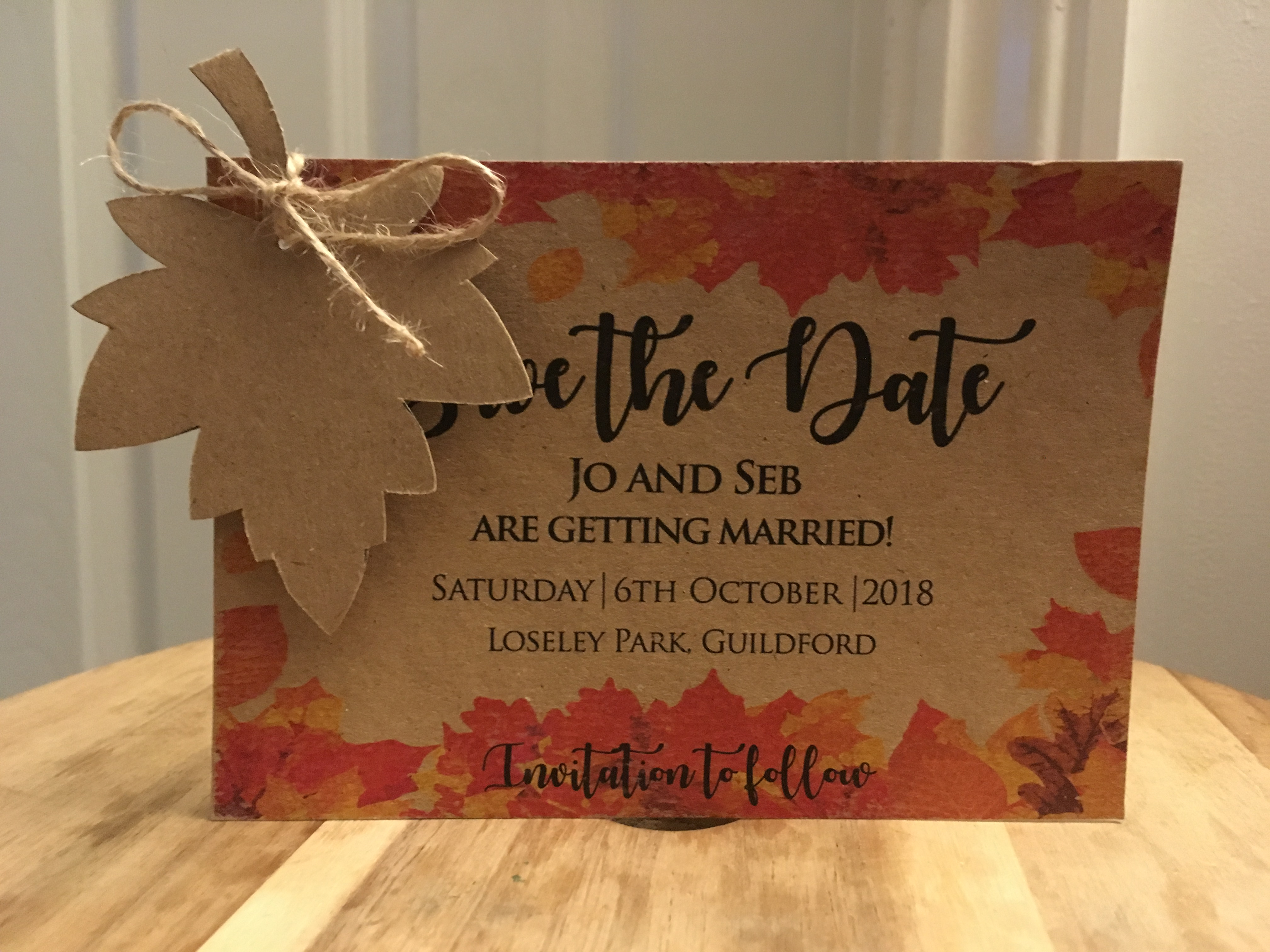 Autumnal Save the Dates