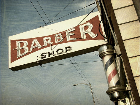 FREDERICK'S BEAUTY SALON aged and worn vintage photo of barber shop sign.jpg
