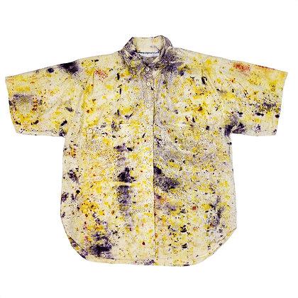 Botanical Bundle Dyed Button Down Short Sleeve Shirt