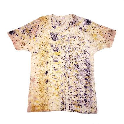 Botanical Bundle Dyed Vintage V-Neck T-Shirt - Medium - Back Porch Collection #1