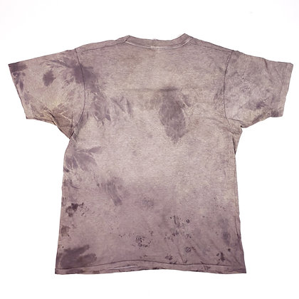 Naturally Dyed T-Shirt Purple Dead Nettle, Mauve Tie Dye Vintage Hanes Tee Lrg
