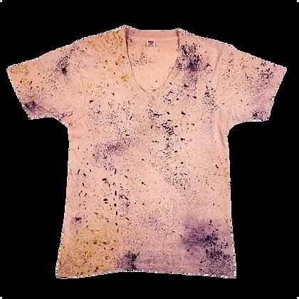 Naturally Bundle Dyed Pink Vintage T-shirt - Medium - Back Porch Collection #2