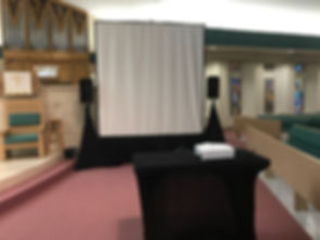 8 ft Screen | HD projector | PA system