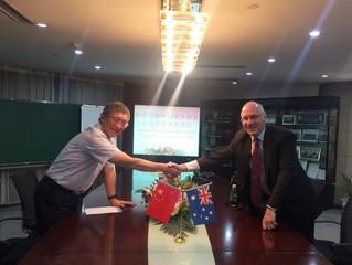 SAAPRM澳大利亚区主席 John Olver 教授到访南京钟山老年服务人力资源开发园区