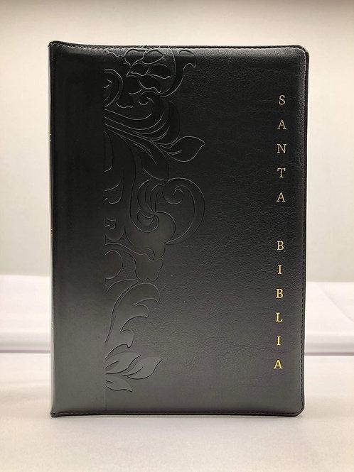 R 1960 Biblia Letra Gigante con Referencias con indice, con cierre, simil piel