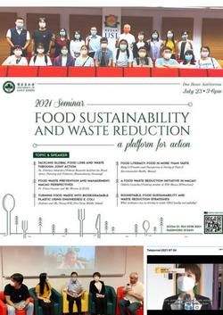 USJ Food Sustainability & Waste Reduction