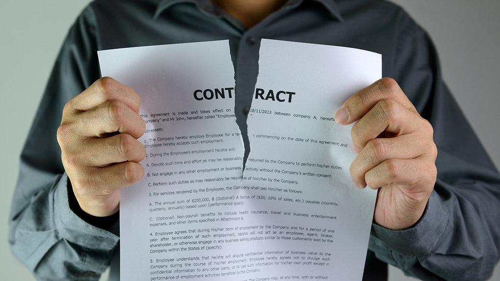 Being in Control of Your Space, Breaking Agreements