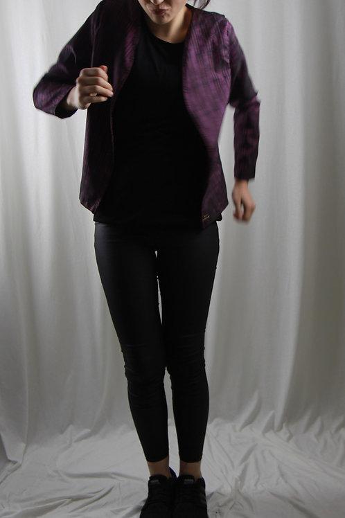Jäckli violett gestreift kurz