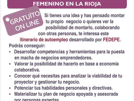 Programa de emprendimiento femenino en La Rioja