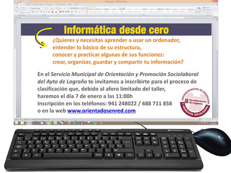 Informática desde cero, inscripción para el proceso de clasificación