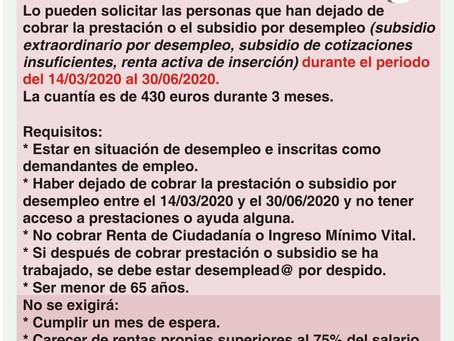 Subsidio especial por desempleo, nuevo plazo de solicitud.