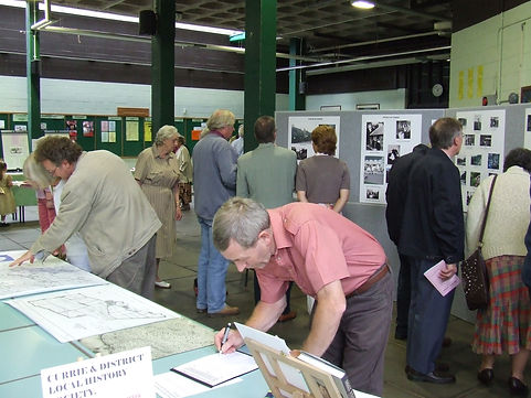Currie Local History Society Demonstration