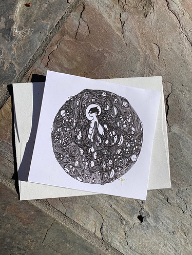 """Everything is Circles (Cycles)"" Card with envelope"