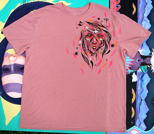 Pink Face t-shirt, size XL