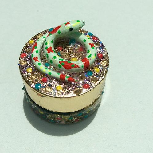 Sparkle Snake mini stash jar
