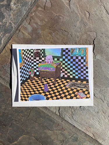 """""""The Talking Head is Back Again"""" Card with envelope"""