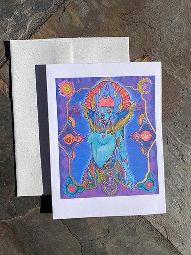 """(DM)Tiamat"" Card with envelope"