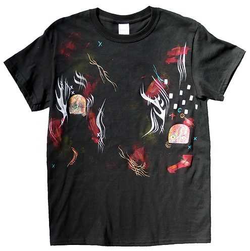 Abstract Black & Color T-shirt, size Small