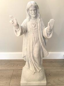Blessing scared heart statue.JPG