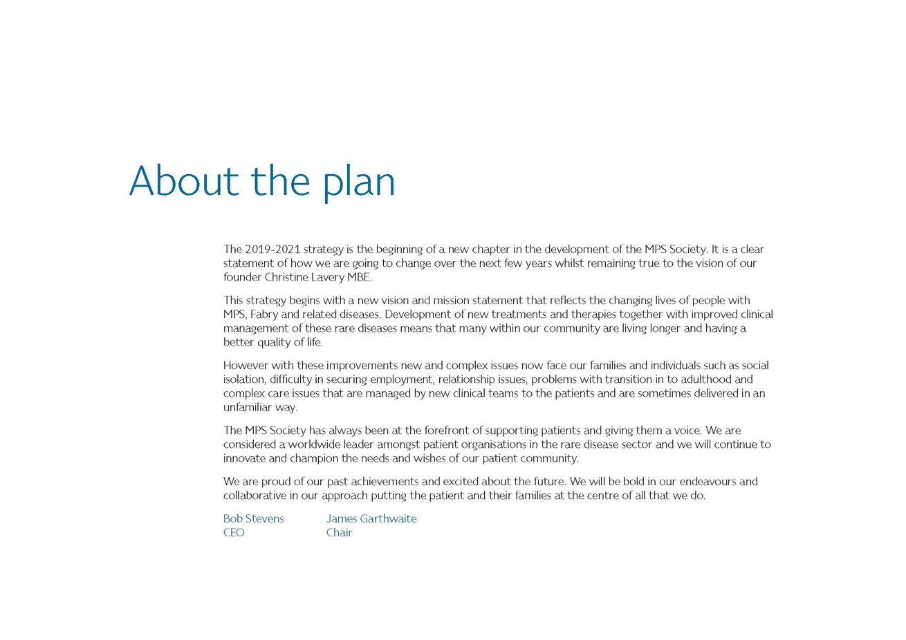 About the plan