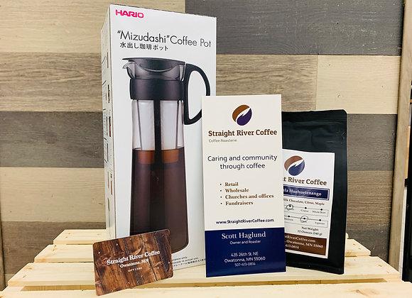 Hario Cold Brew Pot and Coffee