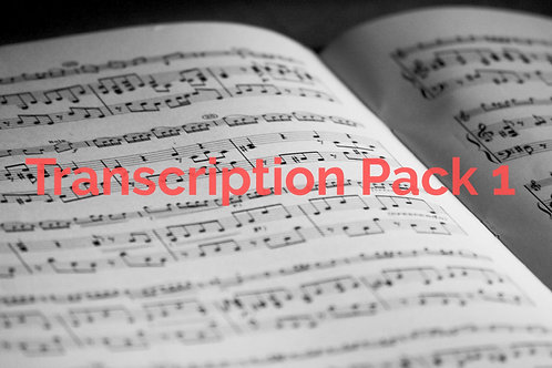 Leonardo Guzman - Transcription Pack 1 (Get 4 Full solos-songs)