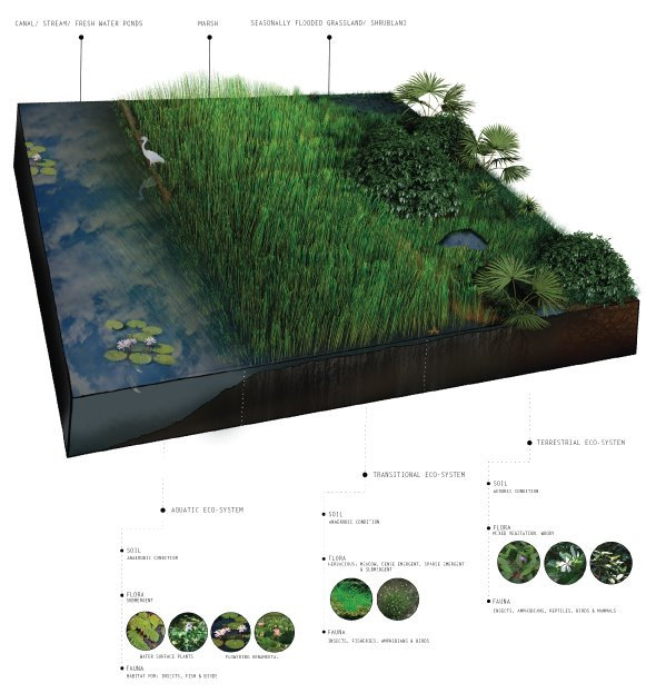 Identified ecological zones.  WATERSHED- Inhabitable water infrastructure. Raphael fogel