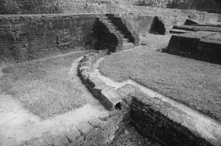 Conduit at the water gardens at Sigiriya.  WATERSHED- Inhabitable water infrastructure. Raphael fogel