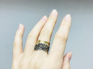 Мастер-класс: фактурное кольцо с позолотой