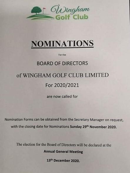 AGM nomination form
