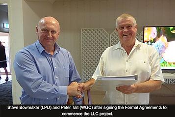 Steve Bowmaker (LPD) and Peter Tait (WGC
