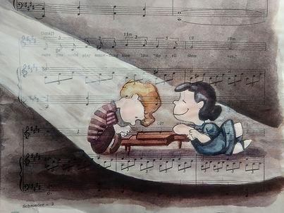 Schroeder & Lucy: Moonlight Sonata