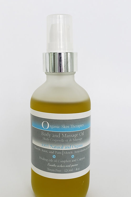 Body and Massage Oil - Muscle, Joint, and Pain