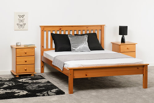 Monaco Bed Low Foot End in Antique Pine