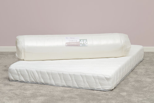 Memory Cool Rolled Mattress in White Fabric