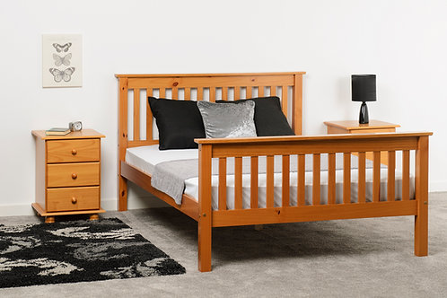 Monaco  Bed High Foot End in Antique Pine