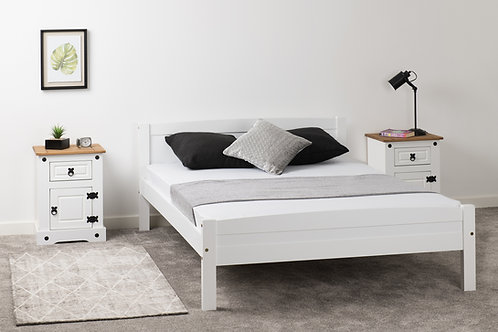 Amber Bed in White