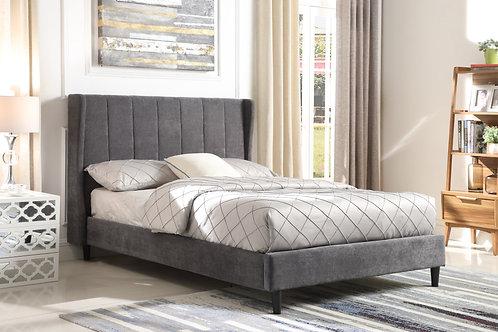 Amelia Bed in Dark Grey Fabric