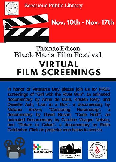 Nov 10th - 17th - Veterans (BLACK MARIA