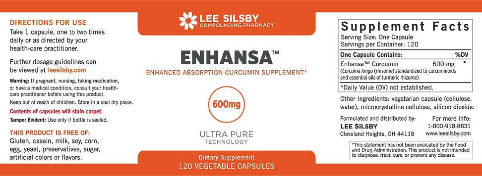 Enhansa Curcumin 600mg Capsules by Lee Silsby Compounding Pharmacy