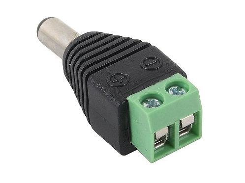 Разъем питания DCx2.1 (штекер) для систем видеонаблюдения